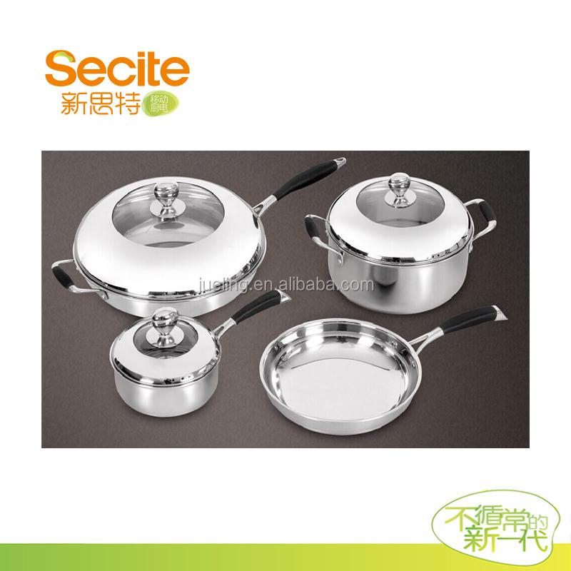 stainless steel cookware pot set for restaurant utensils buy stainless steel indian hot pot. Black Bedroom Furniture Sets. Home Design Ideas