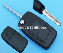 Chery Tiggo car keys 2 button flip remote control keyless fob replacement blank cover