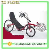 Classical design hot sale delta recumbent tricycle