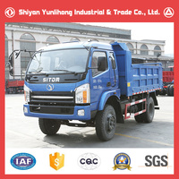 cheap price 4x2 9ton euro 3 diesel engine mini tipper dump truck for sale