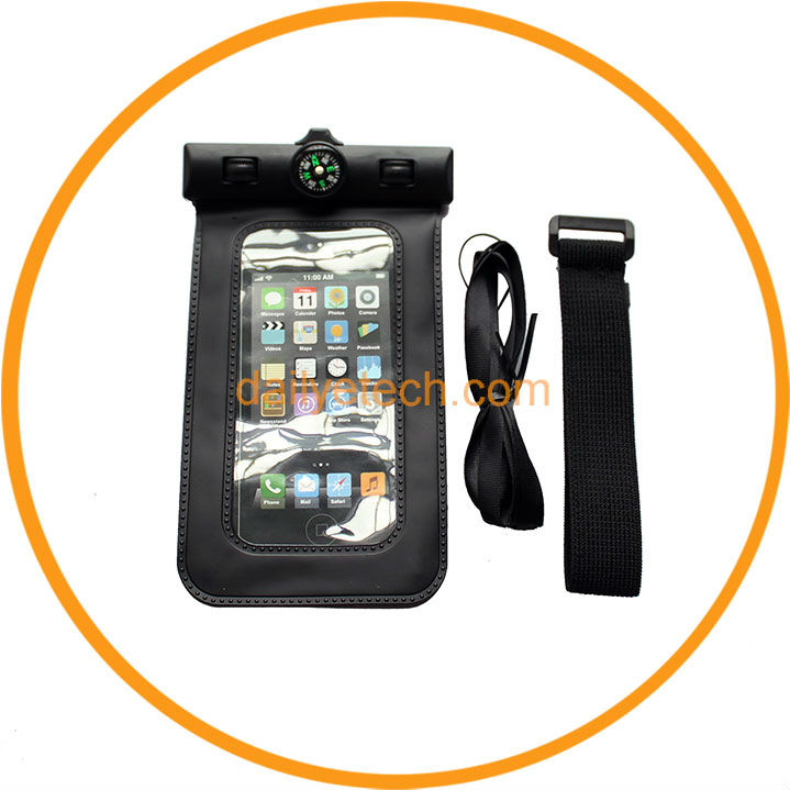 2013 Compass Sport Swiming Cell Phone Waterproof Case for HTC ONE X Black from Dailyetech CE ROHS IPX6 Certificate
