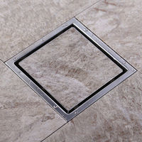 WELDON Euro Top of sale Tile Insert Square Floor Waste Grates Bathroom Shower Drain 150 x 150 MM