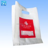 Customized Printed Wholesale High Quality Plastic Shopping Bag Wholesale T-Shirt Carry Bags