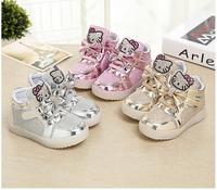 2017 New Baby Girls Boy Led Light Shoes Toddler Anti-Slip Sports Luminous Flasher Shoes