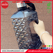 fashional bpa free water bottle 2.2l with private label, Diamond Shape Water Bottle