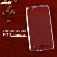 TPU transparent mobile phone back cover case for Xiaomi Redmi3, Bulk Buy from China