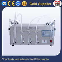 China Supplier Hot Sale Semi Auto Four Heads Bottle Filler For Liquids
