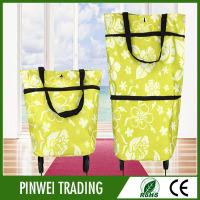 trolley bags reusable green grocery shopping for shopping cart