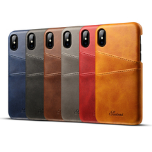 PU Leather Phone Case Wallet for Iphone 8 Phone Case Cover With Card Slot for Iphone X