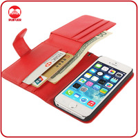 China Manufacuturer Wholesale Multifunction Flip Wallet Card Holder Leather Case for Iphone 5 5g