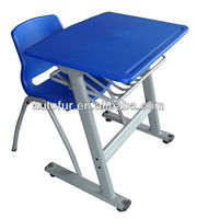 Cheap metal tube frame plastic school classroom furniture student desk and chair