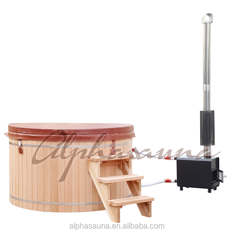 Canadian Red Cedar Wood fired hot tub for sale