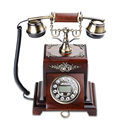 Vintage Decor Corded Telephone Decorative Home Furniture