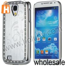Spoondrift Pattern Electroplate Brushed Aluminum Diamond Case for Samsung Galaxy S4 I9500