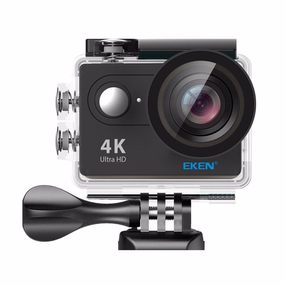 H9, Ultra HD 4K Waterproof Action Camera (Sports DV camcorder with 2 Batteries, Charging Dock, Selfie Stick and 28 Mountings Kit