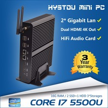 Best quality game computer Intel i7-5500u 2.4GHz cheap mini server computer gaming pc case pc slim case computer