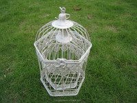 Powder coating garden iron handmade bird cage