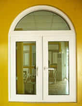 Customized High Quality PVC Casement Glass Window with Arched Top(PCW-021)