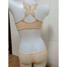 Fashion breathable good quality fast delivery mature lady silk bra and panty set