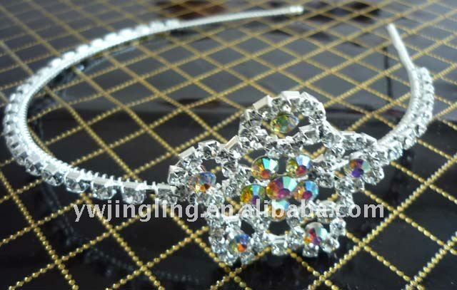 bridal flower rhinestone hairband