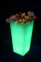 Planter, Plastic Plant Container,LED Light Flower Pot,led garden plant pot solar