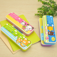 Back to school multifunction double side open customized plastic pencil case for teenagerswith low cheap 23123