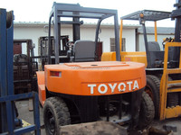 used Toyota 7ton forklift FD70, electric/manual forklift 7 ton, good quality, cheap!
