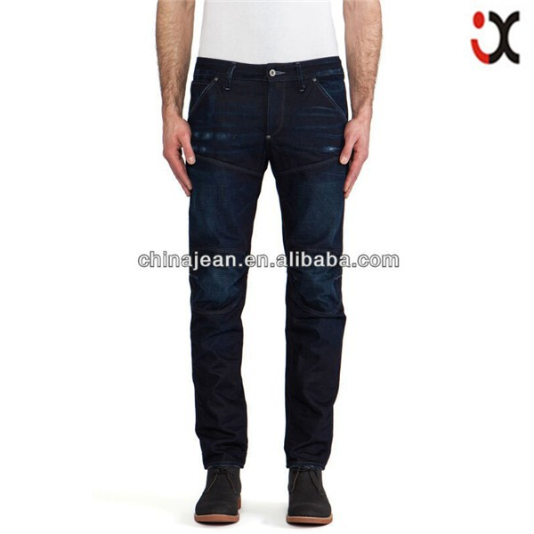 2015 Hottest Sale Denim Men dark blue slim strech jeans JXQ351