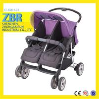 Factory direct twin baby tricycle stroller double dolls buggy pictures