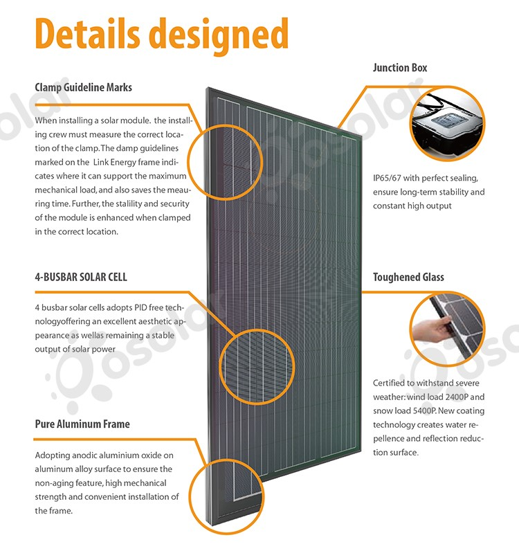 polycrystalline solar panel price 45mm aluminum frame 32v roof solar panel 270 w