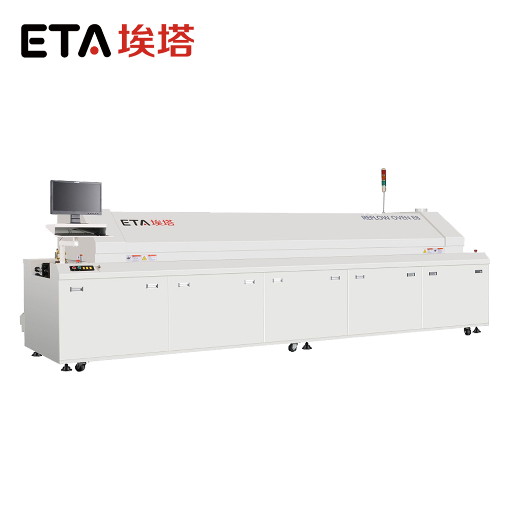 Hot air reflow oven automatic pcb soldering machine