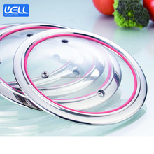 Multipurpose Cookware Silicone Glass Lid