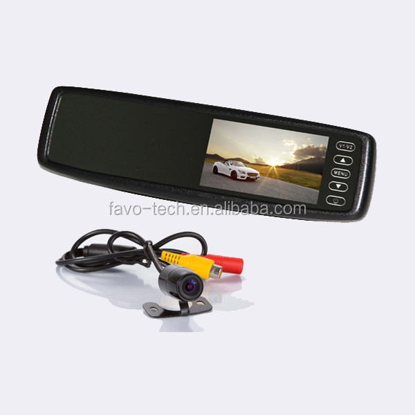 4.3 Inch car rear view parking assist system with Car Mirror Monitor and Camera