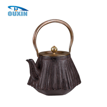 1.4l Chinese Enamel Cast Iron Hexagonal Coffee Tea Pot