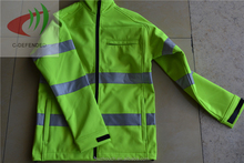 100% polyester reflective jacket soft shell outdoor clothing