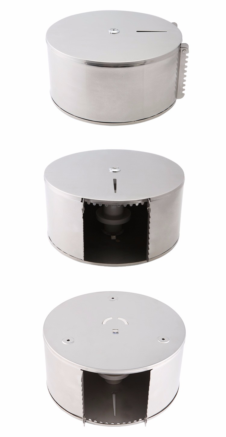 304 Stainless Steel Toilet Circular Generous Paper Tissue Dispenser with lock or without lock