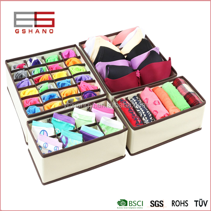 Foldable Drawer living box, Storage Boxes, Closet Organizers, Underwear, Bra