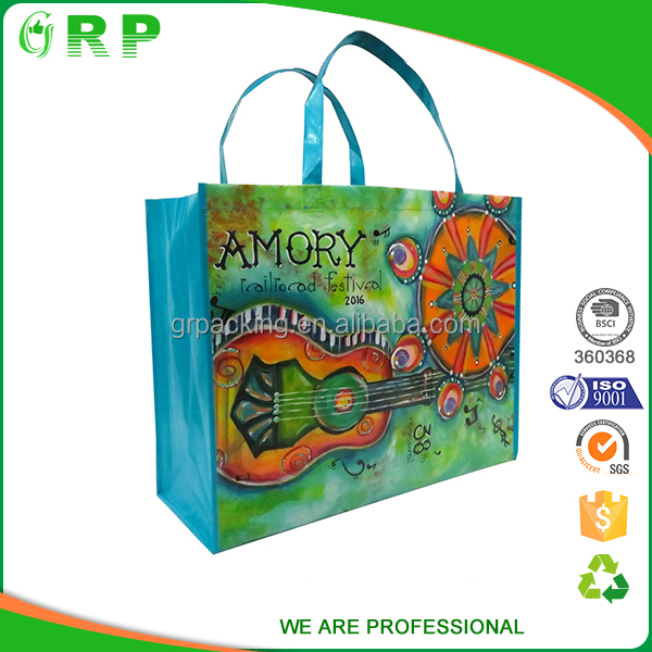 Custom cheap shopping grocery tote non woven pp shopping bag