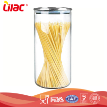 Wholesale Food Grade Airtight Kitchen Storage Sugar Coffee Tea Mason Large Tall Glass Storage Jar