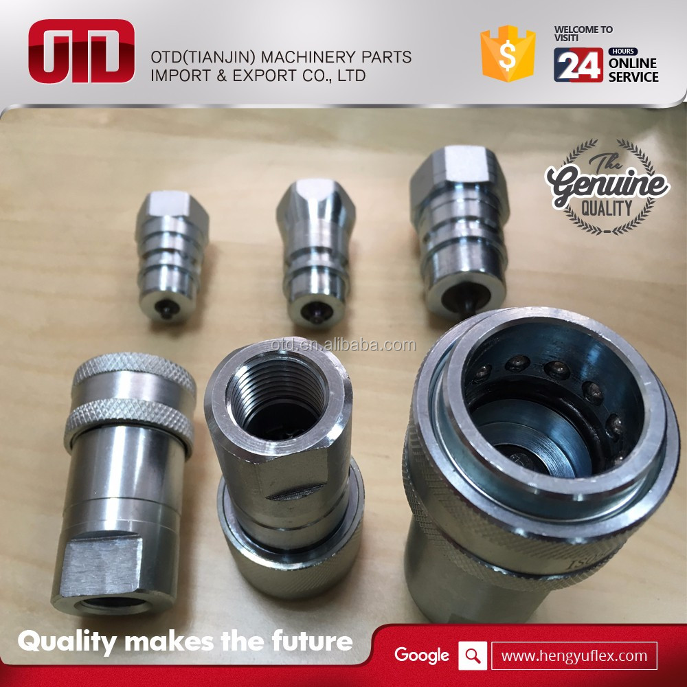 carbon steel close type hydraulic quick coupling for machinery