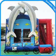 Guangqian Hot sale Indoor Dolphin Inflatable Adult Bounce House