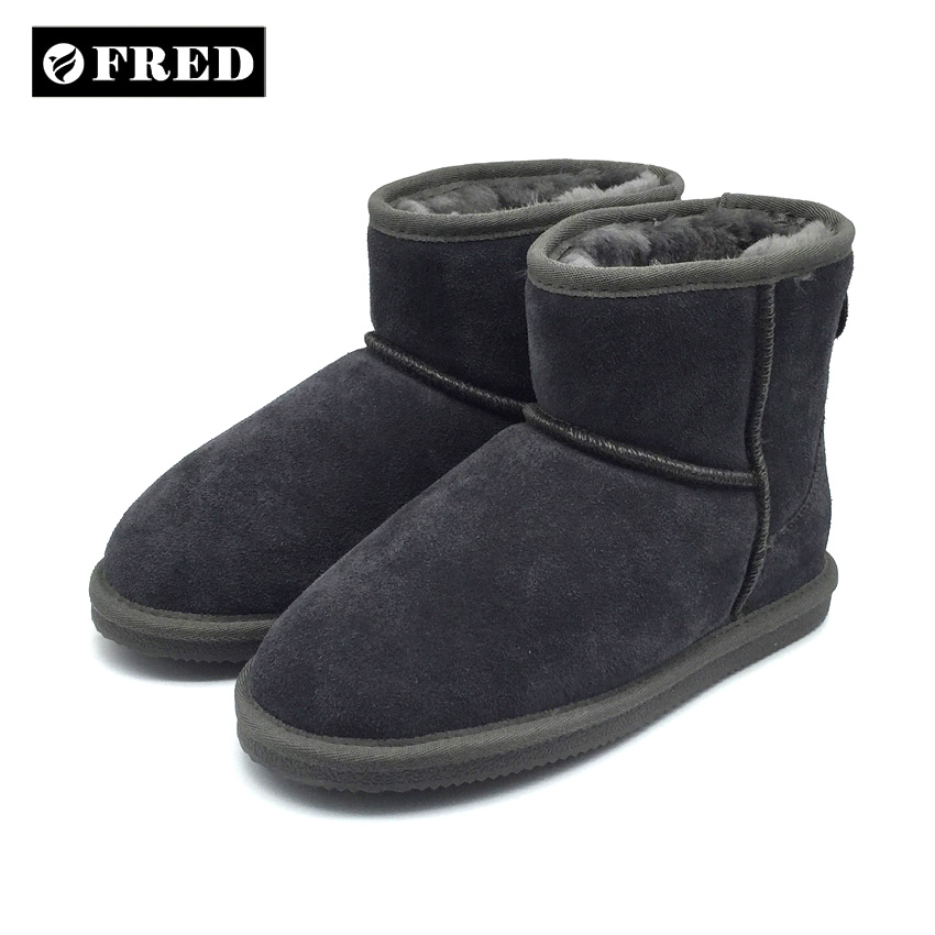 Custom OEM real sheepskin ankle boots