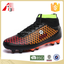 high ankle top long knitting upper soccer football boot shoes