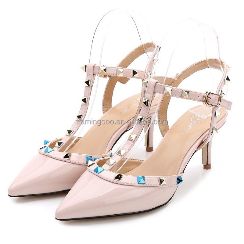 FLAMINGO 2016 LATEST ODM OEM women rivet ladies shoes and sandals