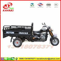 KV200ZH-C black KAVAKI MOTOR hot Diesel engine motor bike 3 wheeler tricycle with roof tricycle cargo tricycle for sale