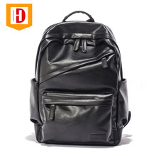 High Quality Best Quality Black Men Leather Backpack Pu Backpack Pu Leather Backpack With Great Price
