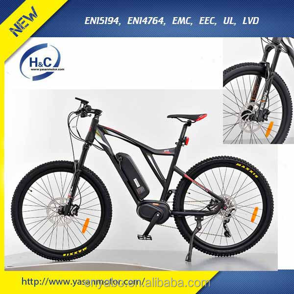 top bafang mid drive 350W 750W 1000W motor electric mountain bikes with bafabg 5-level LCD display e bike mountain