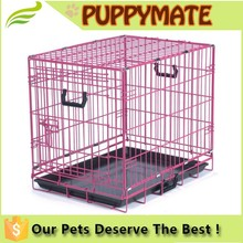 2 door Pet Kennel Cat Dog Folding SS Steel Crate Animal Play Pen Wire Metal Cage