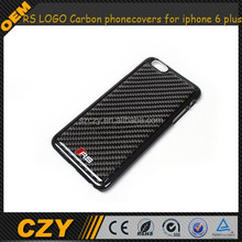 RS LOGO real black Carbon Fiber phone covers for iphone 6 plus