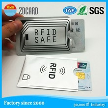 RFID blocking - card sleeve credit card secure protection